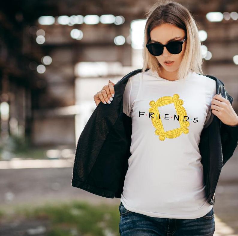 koszulka friends frame - stylowa i wygodna